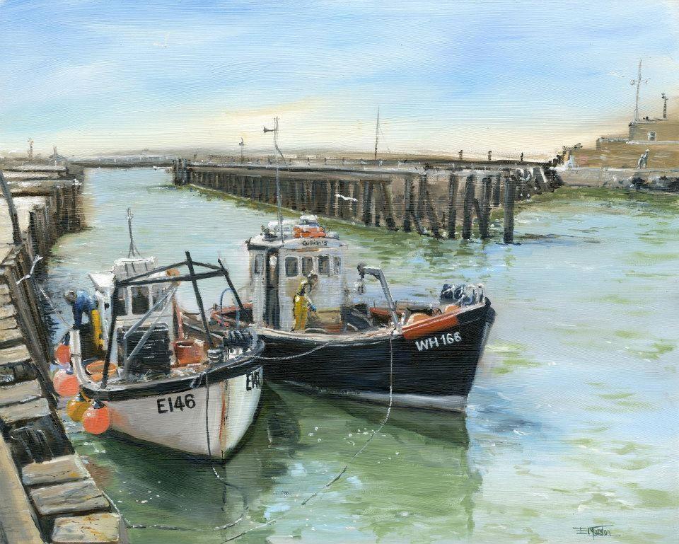 Fishing boats at west bay