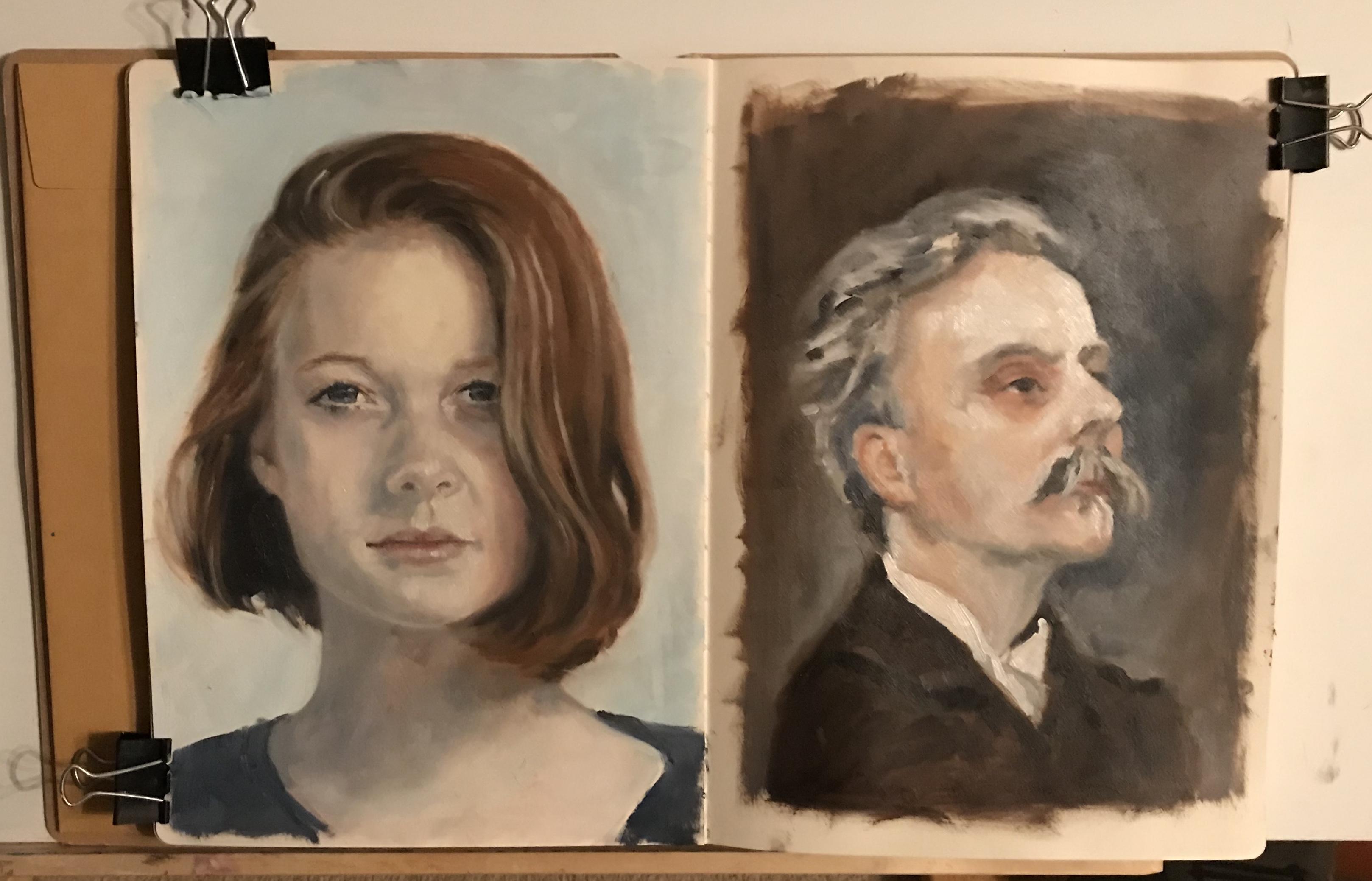 Sketchbook - Portrait Practice 1 & 2