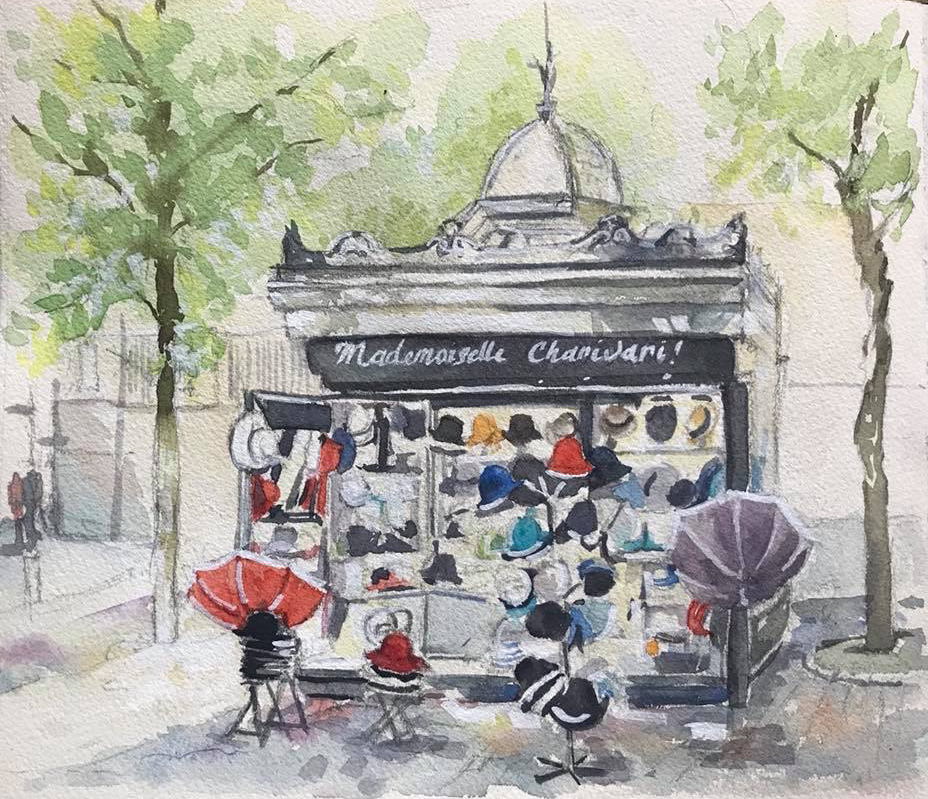 Sketchbook - Watercolour Paris