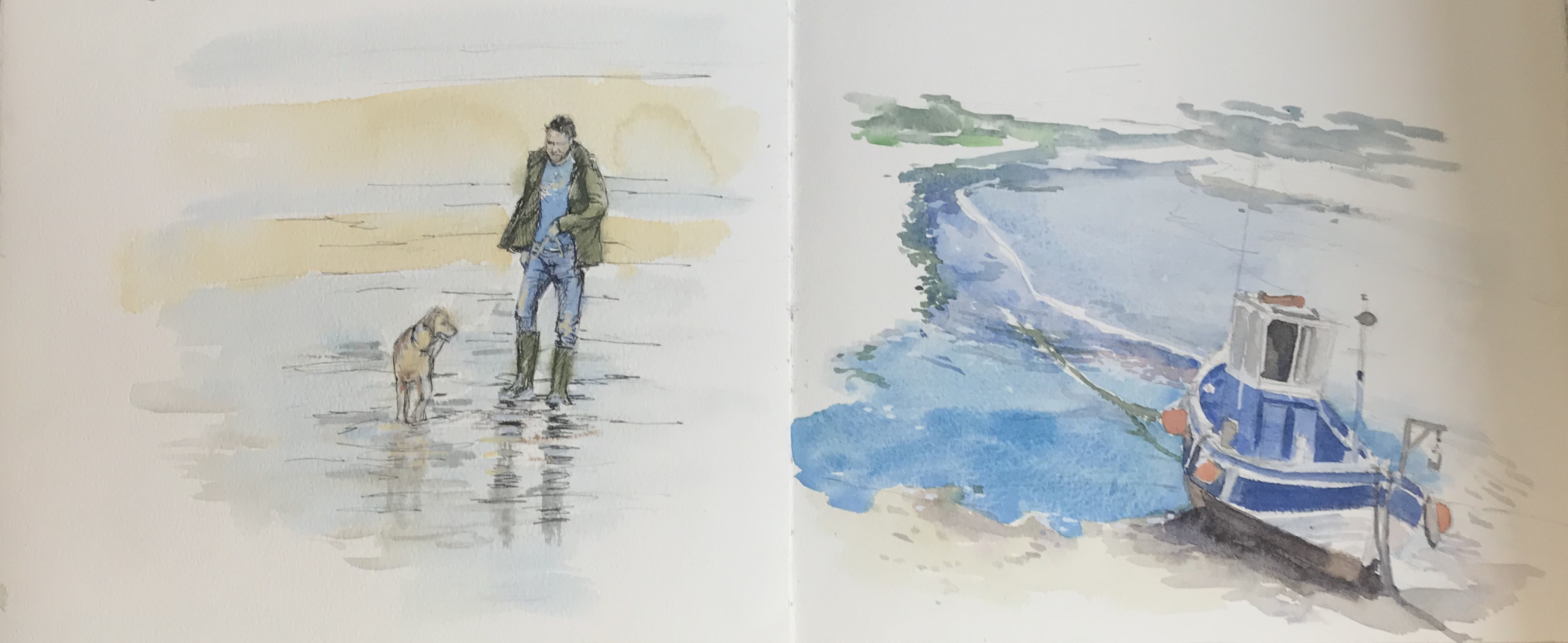 Sketchbook sketches St Ives