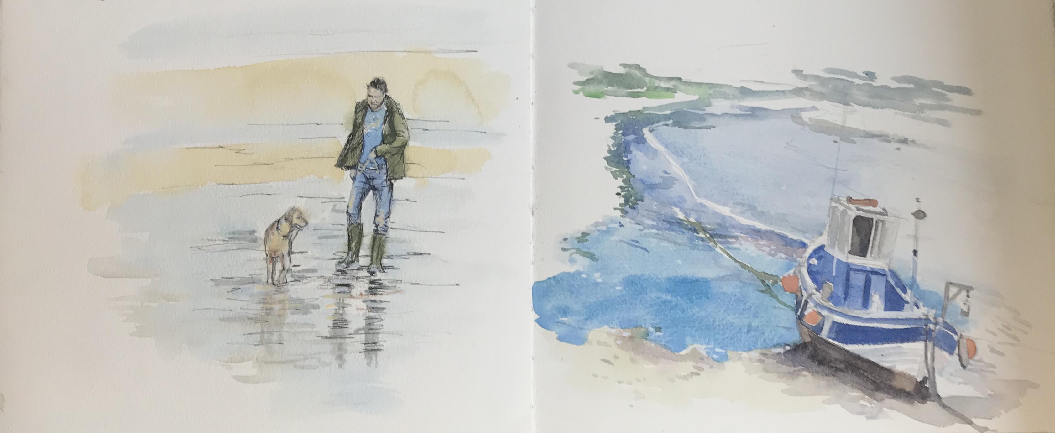 Sketchbook sketches St Ives