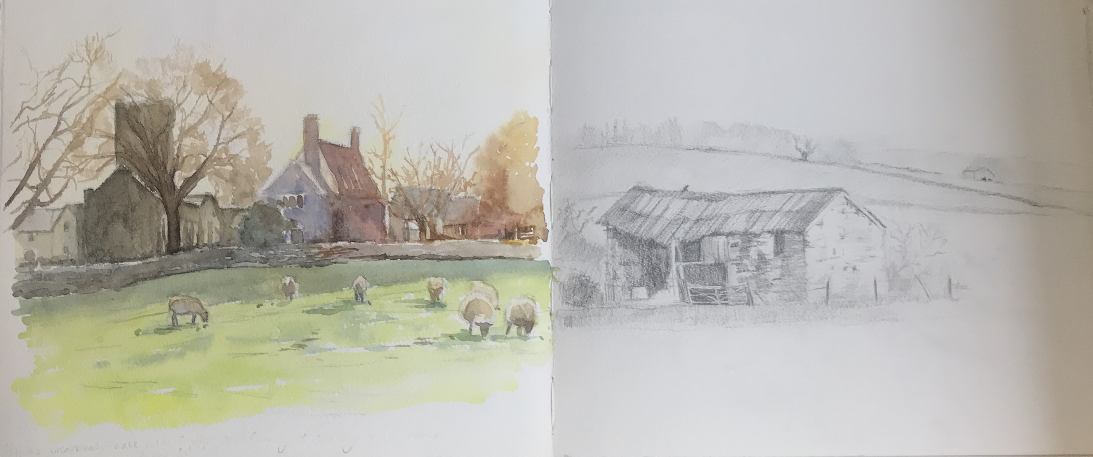 Sketchbook sketches near Home