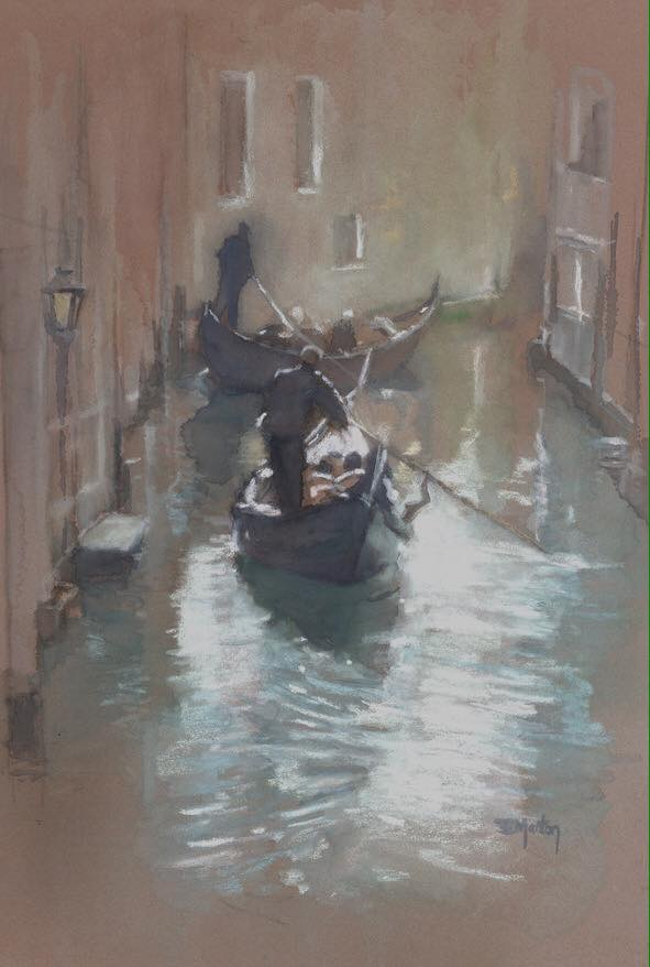 Watercolour & Pastel Venice